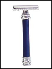 Merkur Barbers Pole Razor, Royal Blue