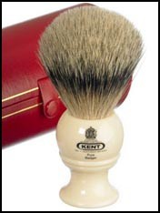 kent medium pure grey badger shaving brush